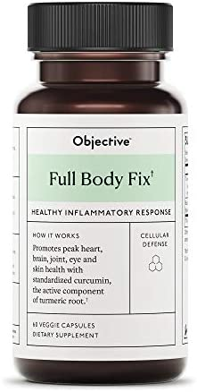 Objective – Full Body Fix Healthy Inflammatory Response – 60 Veggie Capsules Packaging May Vary