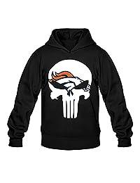 QDYJM Men's Denver Broncos Broncos Punisher Hoodie-Black