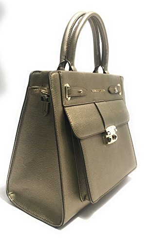 BORSA DONNA TRUSSARDI JEANS SHOPPING VAIL SATCHEL BAG SAFFIANO GOLD BS17TJ114