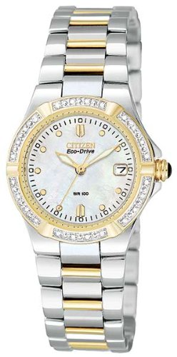 Citizen Women's EW0894-57D Eco-Drive Riva Diamond-Accented Watch