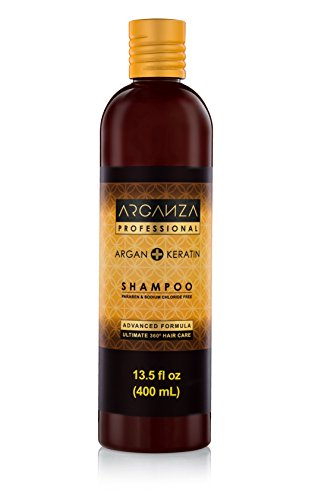 Arganza Argan Oil Shampoo – Revitalize and Restore Moisturizing Shampoo for Dry Damaged Hair – Moroccan Argan Oil + Keratin Shampoo for Color Treated Hair Tame Frizz, Nourish and Shine, 13.5oz by ARGANZA