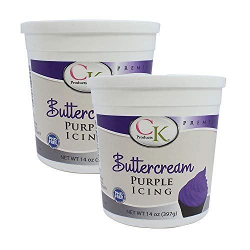 CK Products 14 oz Purple Decorating Buttercream Icing, 2 -