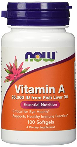 Now Foods Vitamin A 25000 IU 100 SGELS