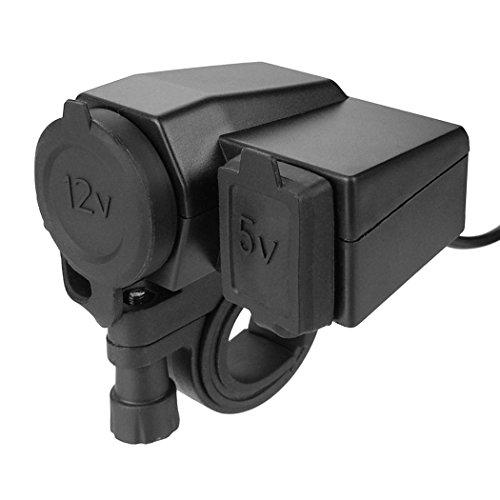 RioRand Black 5V 2.1A USB Phone 12V Moto - Motorcycles Accessories Shopping Results