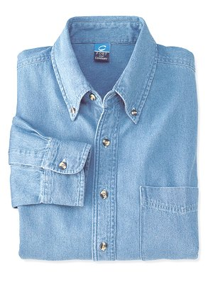 Port & Company Long Sleeve Denim Shirt (SP10)