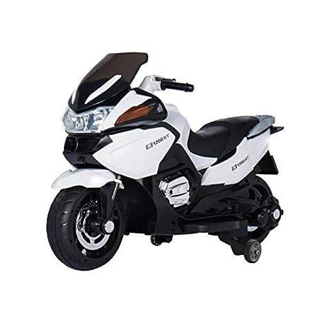 ATAA Gran Turismo 12v Biplaza - Blanco -Moto eléctrica Dos plazas para niños de hasta 9 años. Batería 12v Coche electrico niños