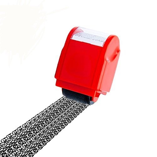 Roller Stamp (Identity Protection Roller Stamp Lionergy Wide Roller Identity Theft Prevention Security Stamp)