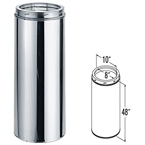 Stainless Steel Chimney Pipe 8 x 48 Amazoncom