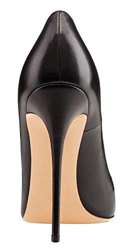 Talons Grande Femmes Noir Talon Chaussures Aiguille Escarpins Pu Taille Femme Ubeauty Stilettos Yw1Tqx