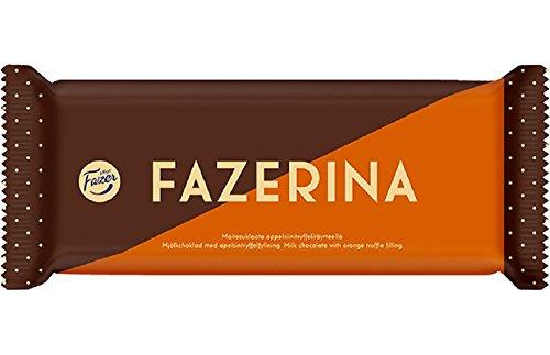 (2 Bars x 100g of Fazer Fazerina - Original - Finnish - Milk Chocolate with Orange Truffle filling)