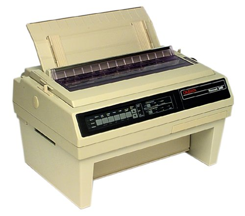 Oki Pace mark 3410 Dot Matrix Printer, 9-pin, 550 cps, 28 KB, Parallel, Serial, 120V (61800801) by OKI