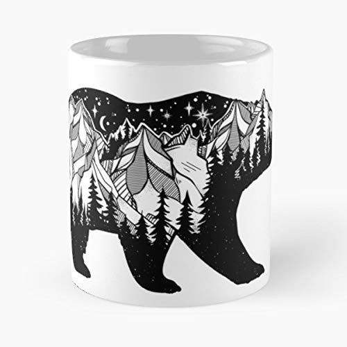 Adventure Blackwork Bohemian Boho - 11 Oz Coffee Mugs Unique Ceramic Novelty Cup, The Best Gift For Holidays.