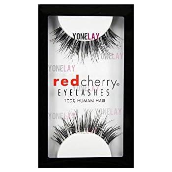 31213ef51fe Amazon.com : 10 Pairs of Red Cherry 100% Human Hair False Eyelashes ...