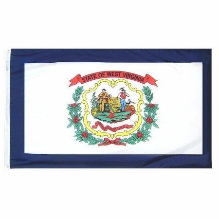 Annin Flagmakers 145860 3 ft. x 5 ft. Nyl-Glo West Virgina Flag