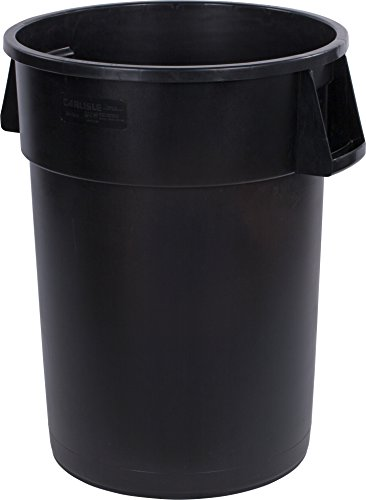 (Carlisle 34104403 Bronco Round Waste Container Only, 44 Gallon, Black)