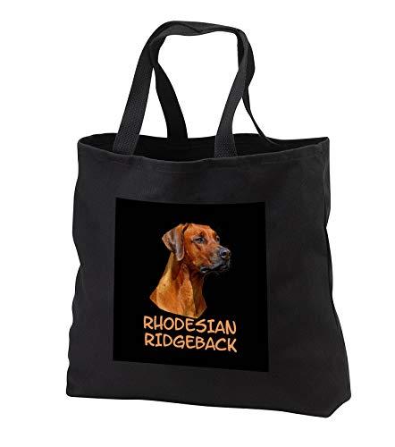 - Sven Herkenrath - Animal - Portrait of A Rhodesian Ridgeback Dog Breeds - Tote Bags - Black Tote Bag JUMBO 20w x 15h x 5d (tb_290715_3)