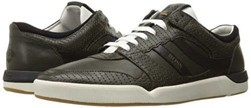ce0d7b4ad89 Amazon.com  BOSS Orange by Hugo Boss Men s Stillness Dark Green Embroidered  Fashion Sneaker  Shoes