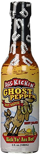 RetailSource Ass Kickin' Ghost Pepper Sauce, 5 oz., 1 Bottle