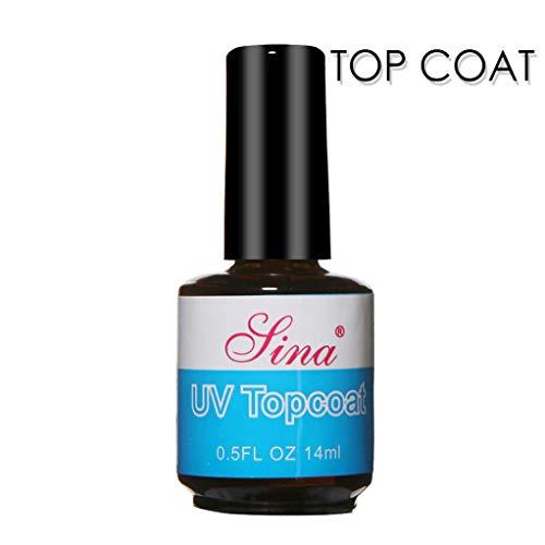 Diamond Nail Gel Polish Primer,Vovomay1Pcs/2 Pcs Top Coat +