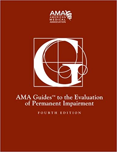 Guides to the evaluation of permanent impairment, 4th edition.