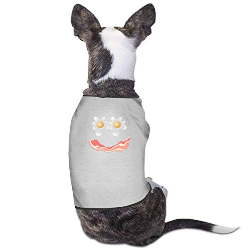King Fong Bacon Eggs Printed Dog Cat Puppy Sweater Clothes Costume Jacket Coat