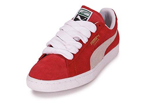 Blanco Rojo Adulto Classic Puma Suede Zapatillas Y Unisex qw0f1Xg
