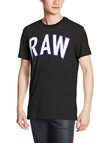 Heather Elevor Noir shirt Homme T G star Raw black Axqgg86