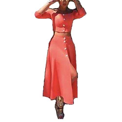 Leezeshaw - Vestido - para mujer naranja