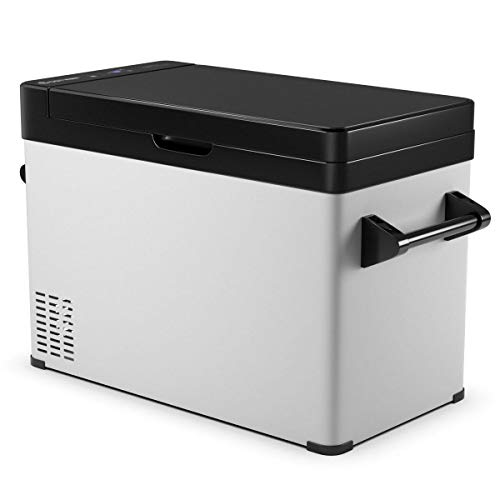 COSTWAY Portable Refrigerator, 53 Quart (50 L) Compressor Freezer -13°F to 50°F, Fridge Freezer Dual-Use, Electric Powered Cooler Mini Fridge, Compact Vehicle Refrigerator for Car, Outdoor