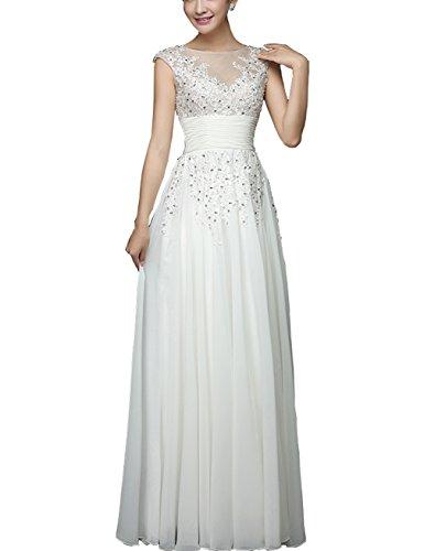 CL0015A Abendkleid Great der Party mit Weiß Damen Satin aus Kleid Taille Raffung an Bright wErqEv7