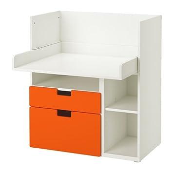 IKEA juego de mesa con 2 cajones, blanco, naranja 2204.26217.622 ...