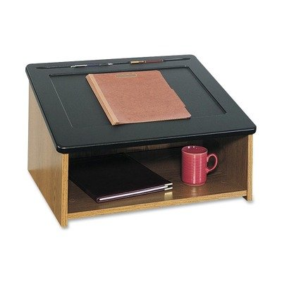 SAF8916MO UNITED STATIONERS (OP) TABLE TOP LECTERN 24X18.5X13.75 MED OAK/BLA 1/EA by SAF8916MO