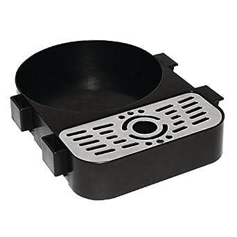 Bandeja de acero inoxidable para recoger el goteo de cafeteras u ollas de vapor, de
