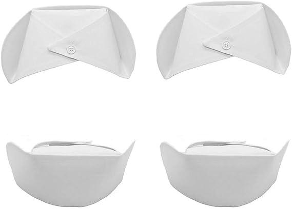 erduoduo 4PCS Nurse Hat White Nurse Costume Accessories by Funny Party Hats,Female Nurses caps Large