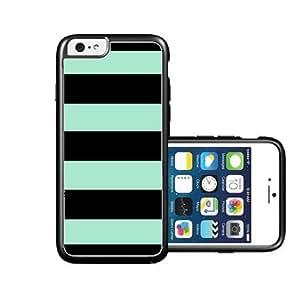 RCGrafix Brand Black-Turquoise-Stripes iPhone 6 Case - Fits NEW Apple iPhone 6