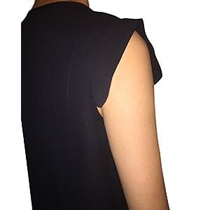 Mustbedone Womens Fashion Casual Sleeveless Chiffon Tank Top Shirts Black M
