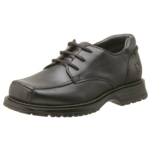 Kenneth Cole REACTION Tie-Spy Oxford (Toddler/Little Kid/Big Kid),Black,9.5 M US Toddler (Leather Tie Spy)