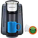 Mixpresso - Single Serve K-Cup Coffee Maker   Coffee Machine Compatible With 1.0 & 2.0 K-Cup Pods   Removable 45oz Water Tank