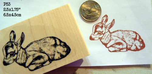 Fawn, deer rubber stamp P53