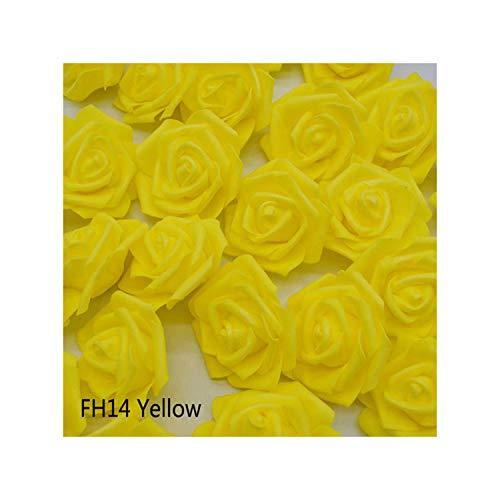 20Pcs/Lot 6Cm Flower Head Artificial Flowers Wedding Decorations Foam Roses DIY Flores Scrapbooking Wreath Garland Home Decor