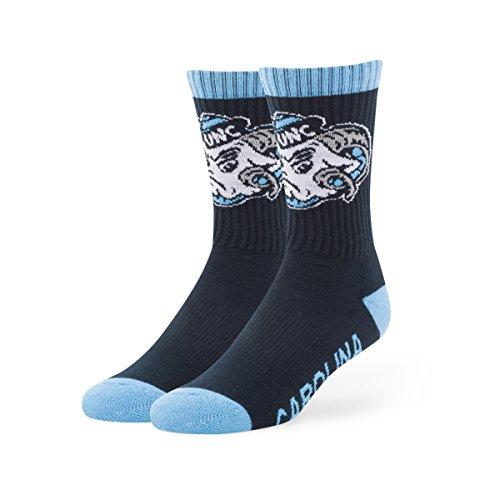 Mens Carolina North Shorts - NCAA North Carolina Tar Heels Men's '47 Bolt Casual Dress Crew Socks, Navy, Large, 1-Pack