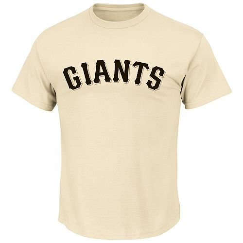 - Majestic Athletic Blank Back Adult 2XL White San Francisco Giants MLB Licensed Cotton Crewneck Replica Jersey T-Shirt