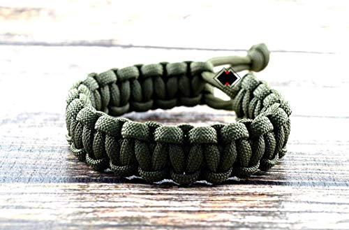 - Mad Max Fury Road Paracord Adjustable Survival Bracelet from Lifeline Outdoor Gear - OD Green - Size 6.5