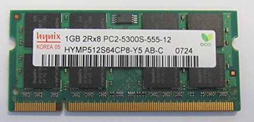 Hynix 1GB DDR2 RAM PC2-5300 200-Pin Laptop SODIMM ()