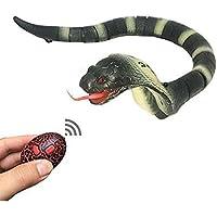 Wiiguda@ Serpiente a control remoto, juguete interior para los niños, como el regalo de Navidad y Cumpleaños, amarillo.