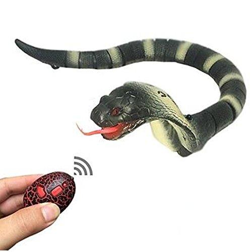 Wiiguda@ Serpiente a control remoto, juguete interior para los niños, como el regalo de Navidad y Cumpleaños, amarillo. AL-RC Snake