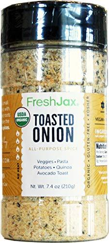 FreshJax Gourmet Spices and Seasonings, (Organic Toasted Onion: All-Purpose) 7.4oz