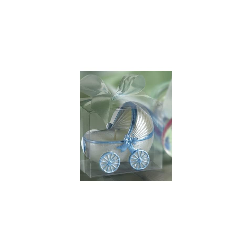 Blue Baby Carriage Candle Favors