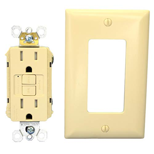 PASS & SEYMOUR LEGRAND 1595-TRI 15A 125V TAMPER RESISTANT GFCI RECEPTACLE IVORY