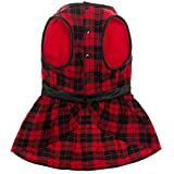OFPUPPY Plaid Fleece Dress Jacket for Large Dogs